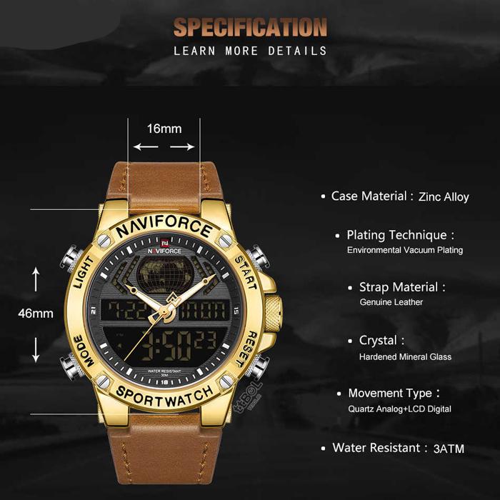 کد تخفیف                                      ساعت مچی دیجیتال مردانه نیوی فورس مدل NF9164M - GHA-TA