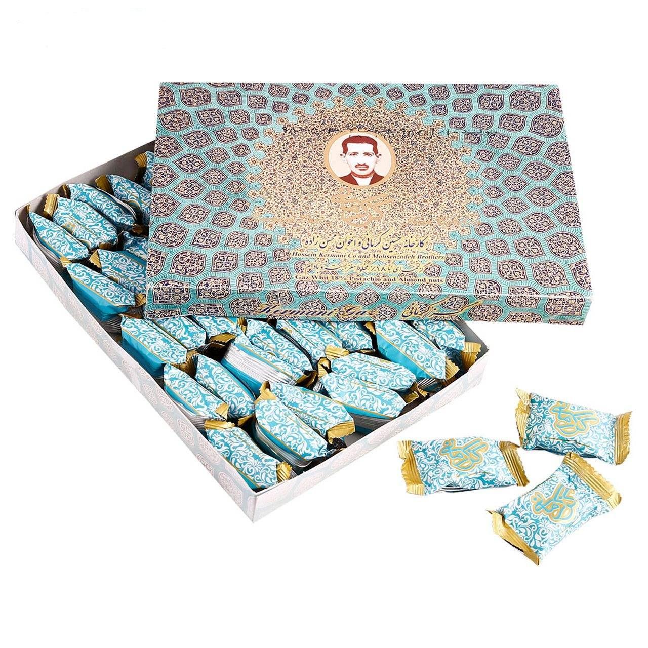 گز لقمه 18 درصد مخلوط پسته و بادام گز کرمانی - 450 گرم