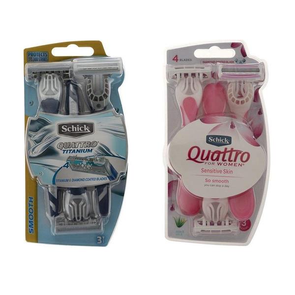 خود تراش شیک مدل Quattro مجموعه 2 عددی