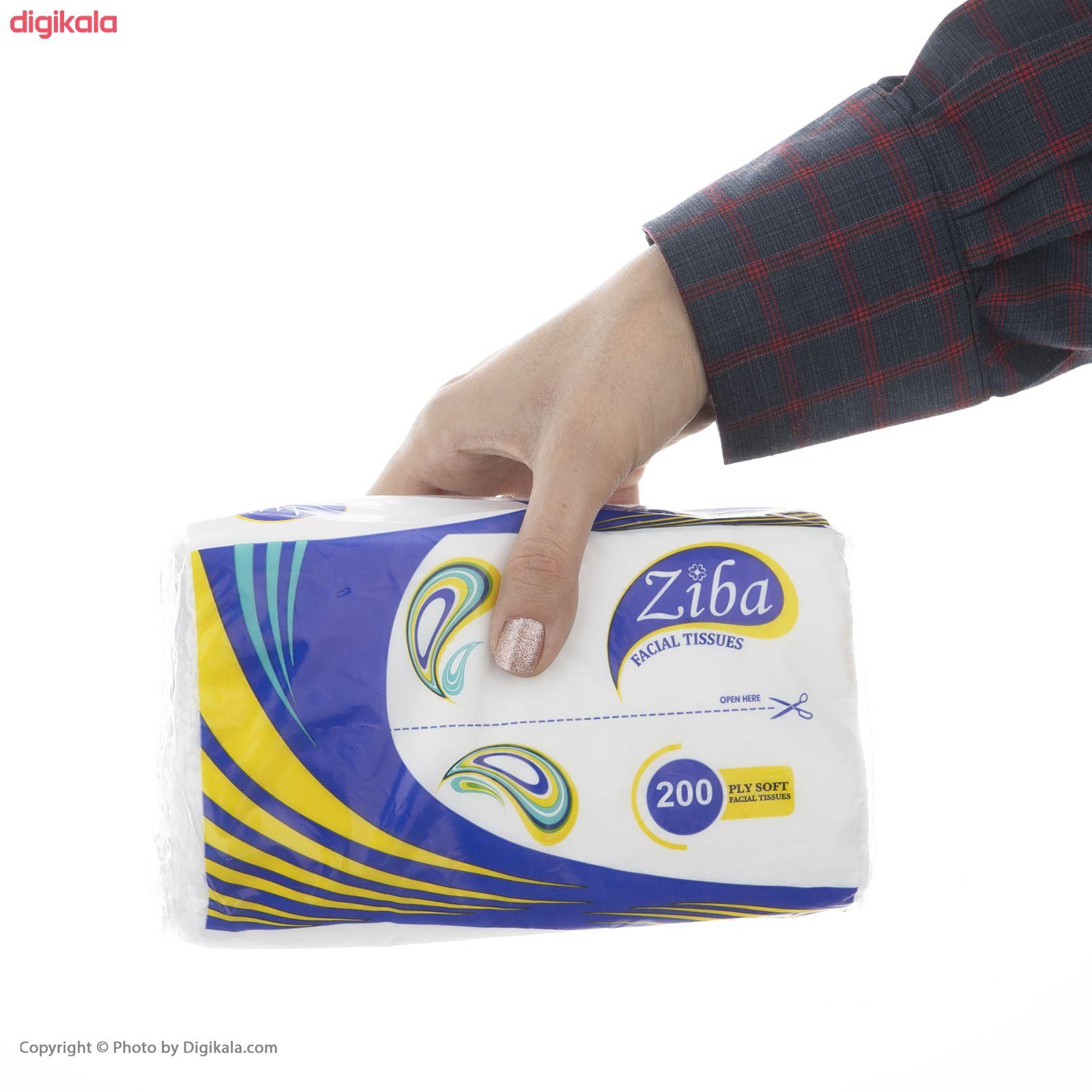 دستمال کاغذی 100 برگ زیبا مدل Yellow بسته 10 عددی  main 1 6