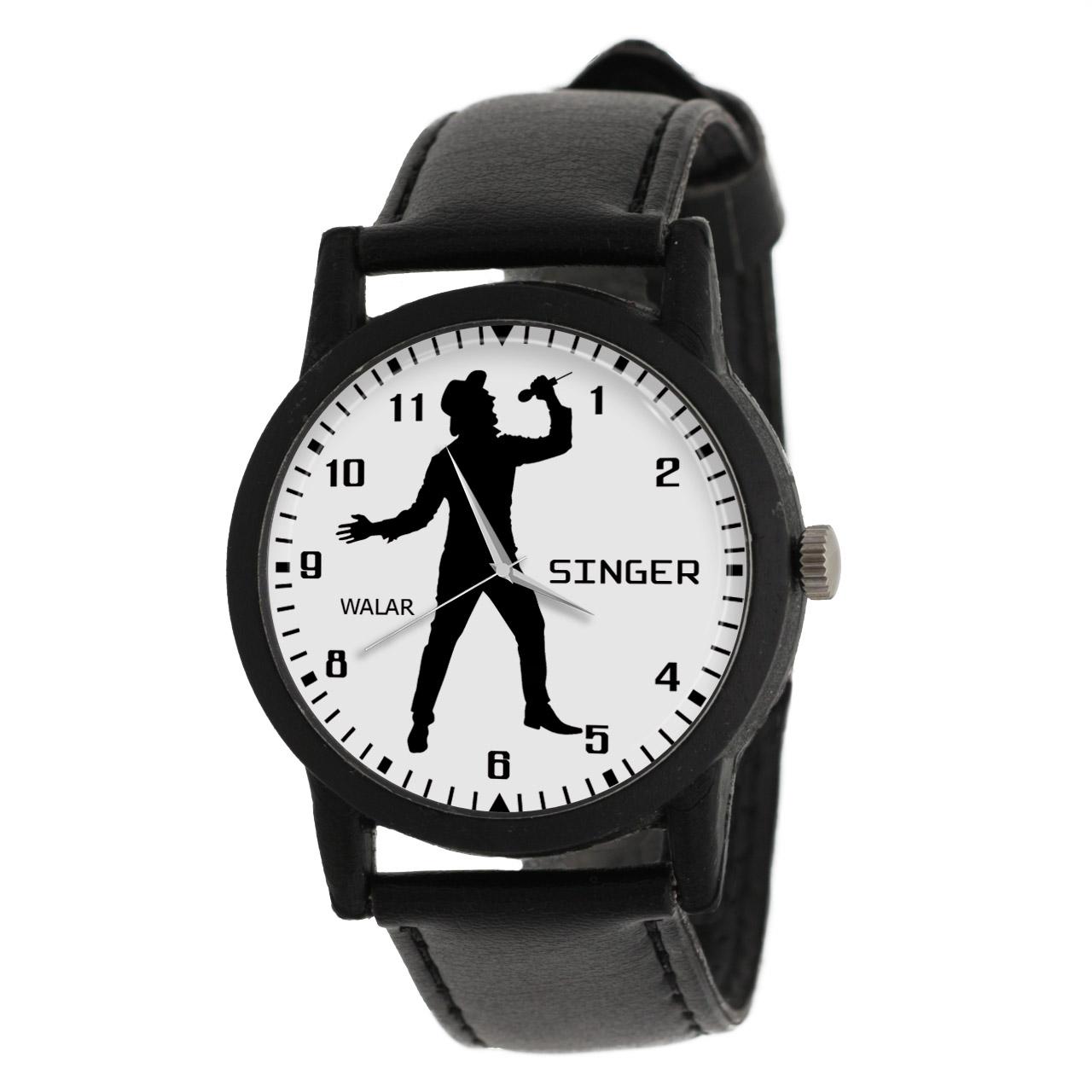 کد تخفیف                                      ساعت مچی عقربه ای مردانه والار طرح خوانندگی کد LF2664