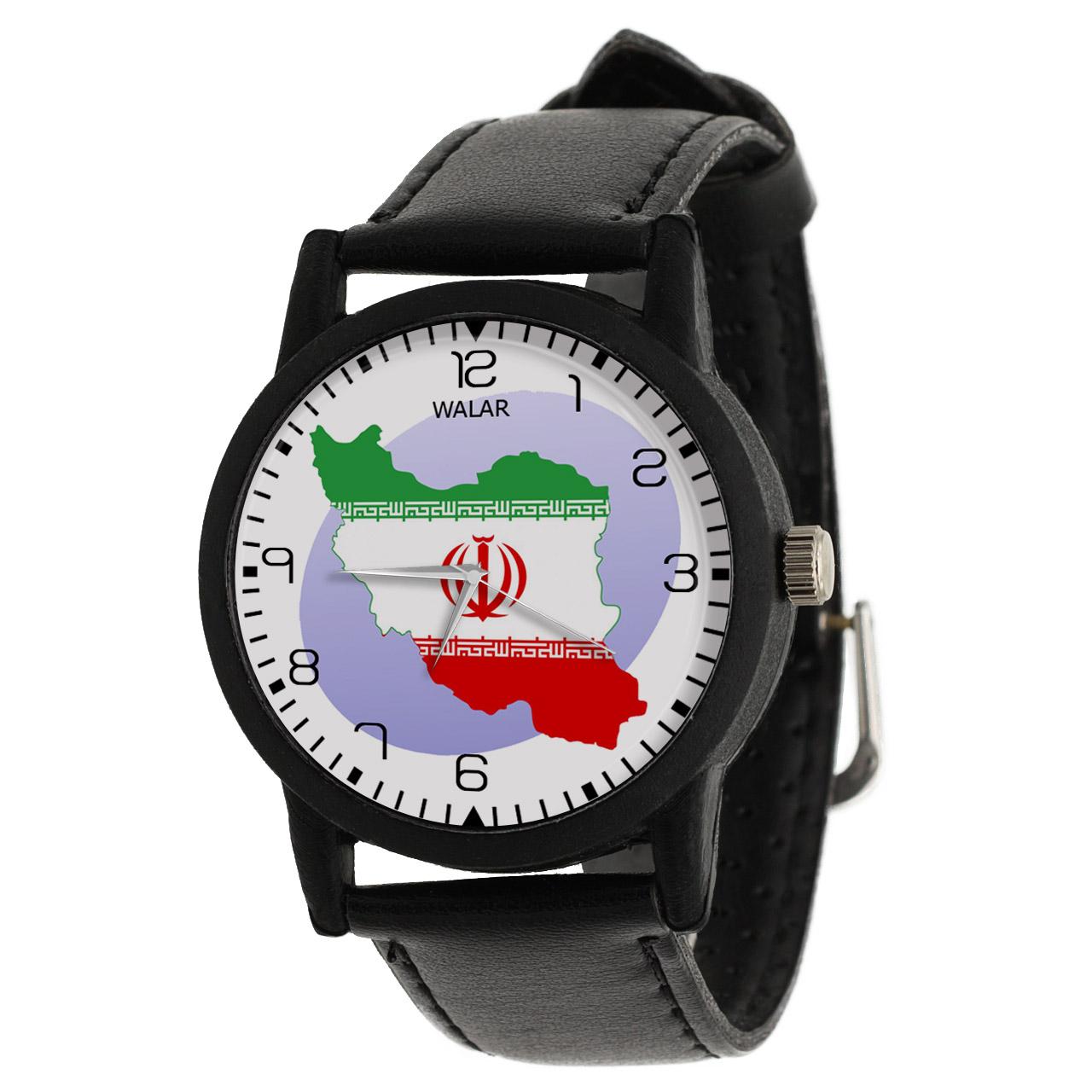 کد تخفیف                                      ساعت مچی عقربه ای والار طرح ایران کد LF2667