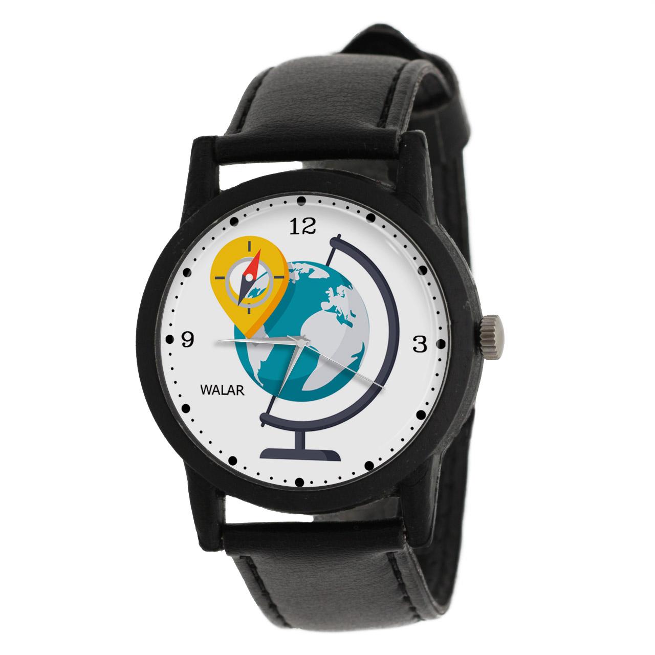 کد تخفیف                                      ساعت مچی عقربه ای والار طرح جغرافیا کد LF2671