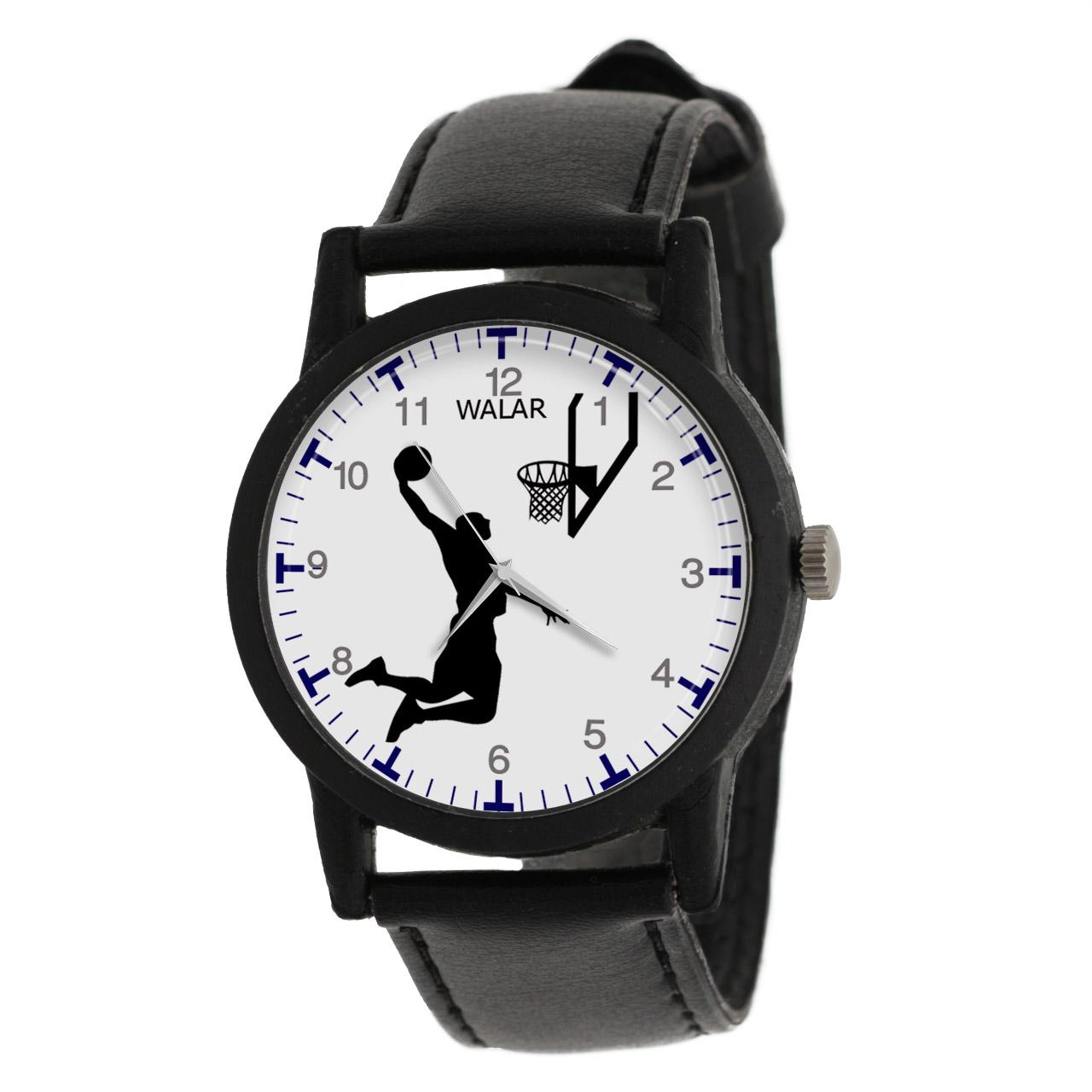 کد تخفیف                                      ساعت مچی عقربه ای مردانه والار طرح بسکتبال کد LF2682