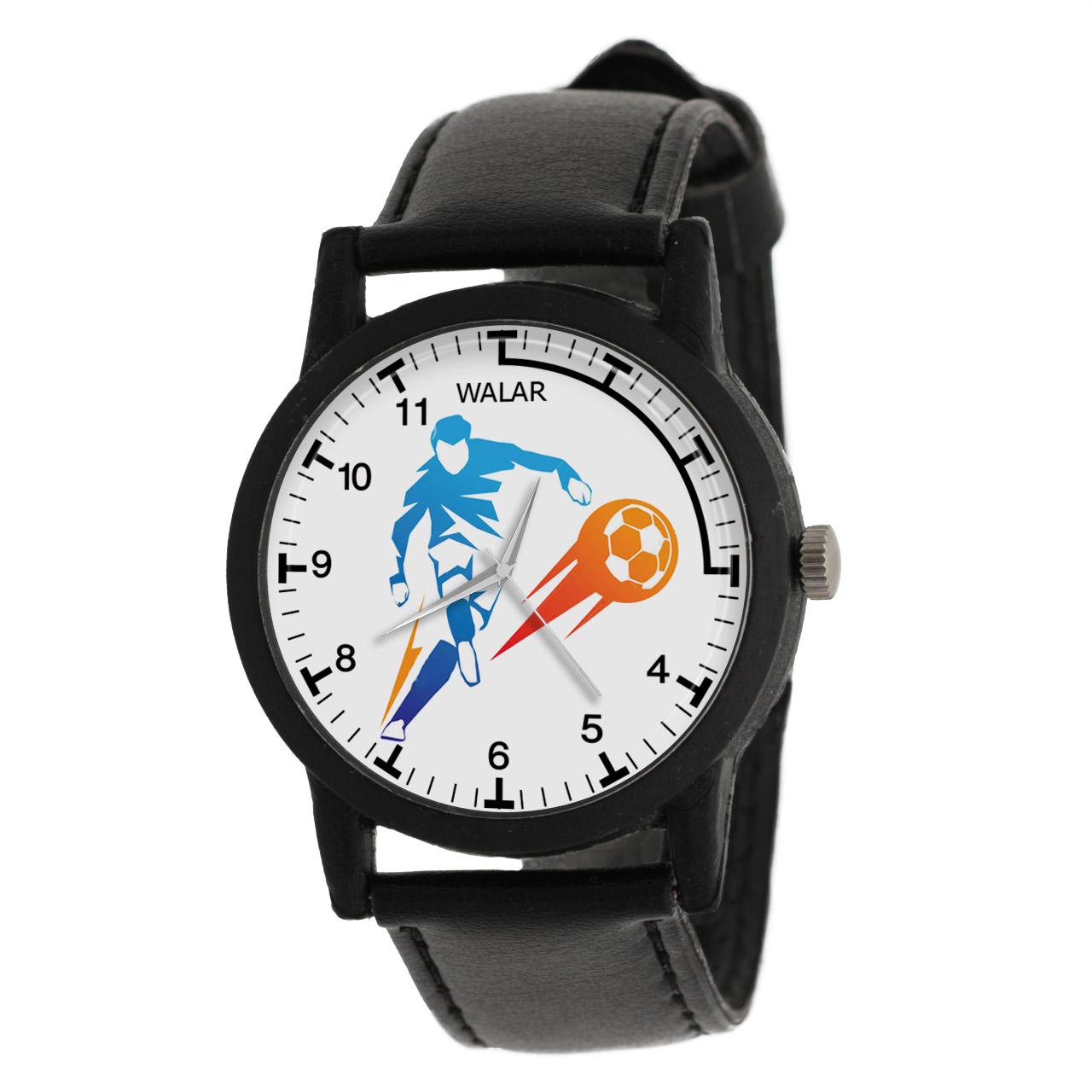 کد تخفیف                                      ساعت مچی عقربه ای والار طرح فوتبال کد LF2689