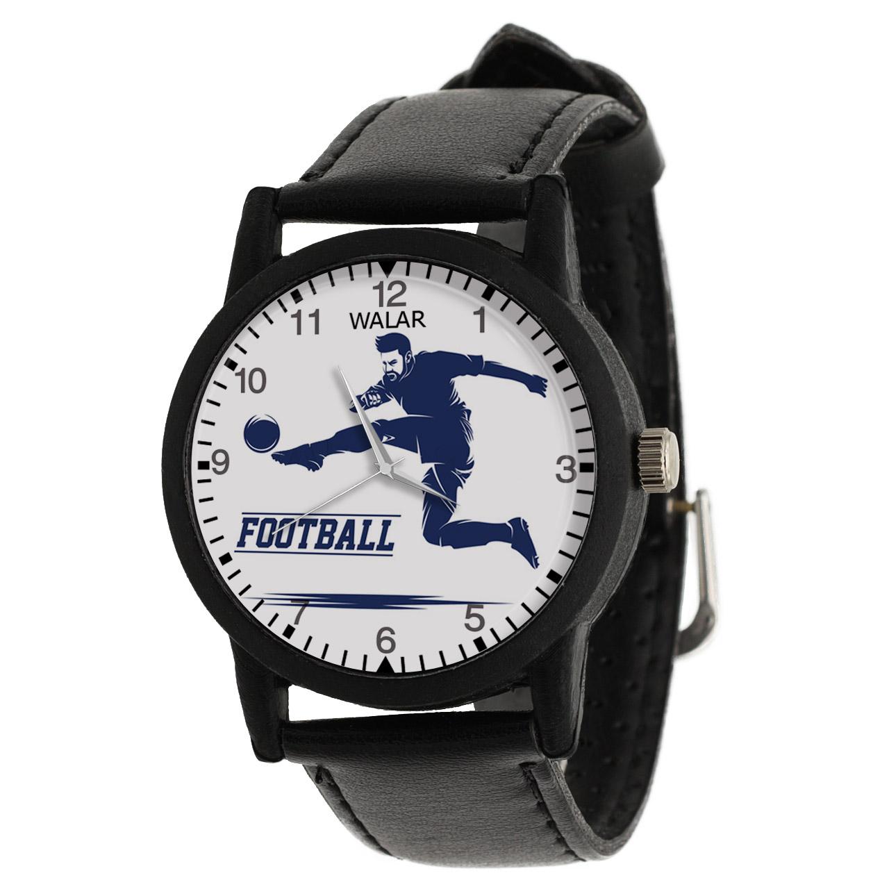 کد تخفیف                                      ساعت مچی عقربه ای مردانه والار طرح فوتبال کد LF2690