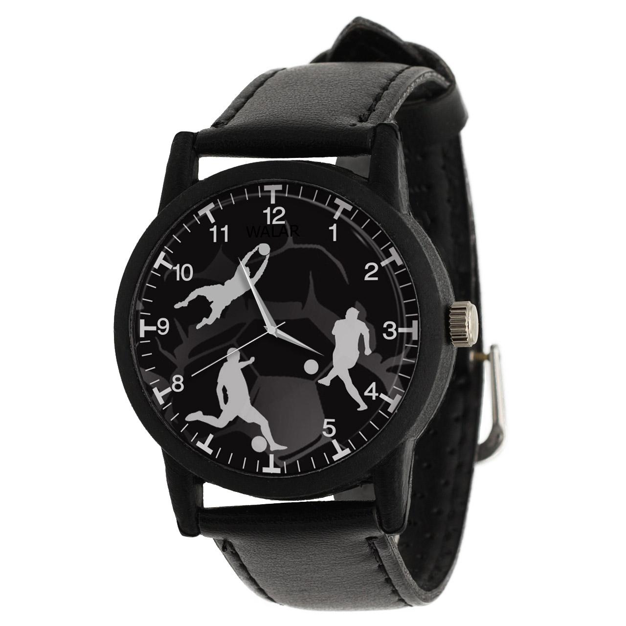 کد تخفیف                                      ساعت مچی عقربه ای والار طرح فوتبال کد LF2691