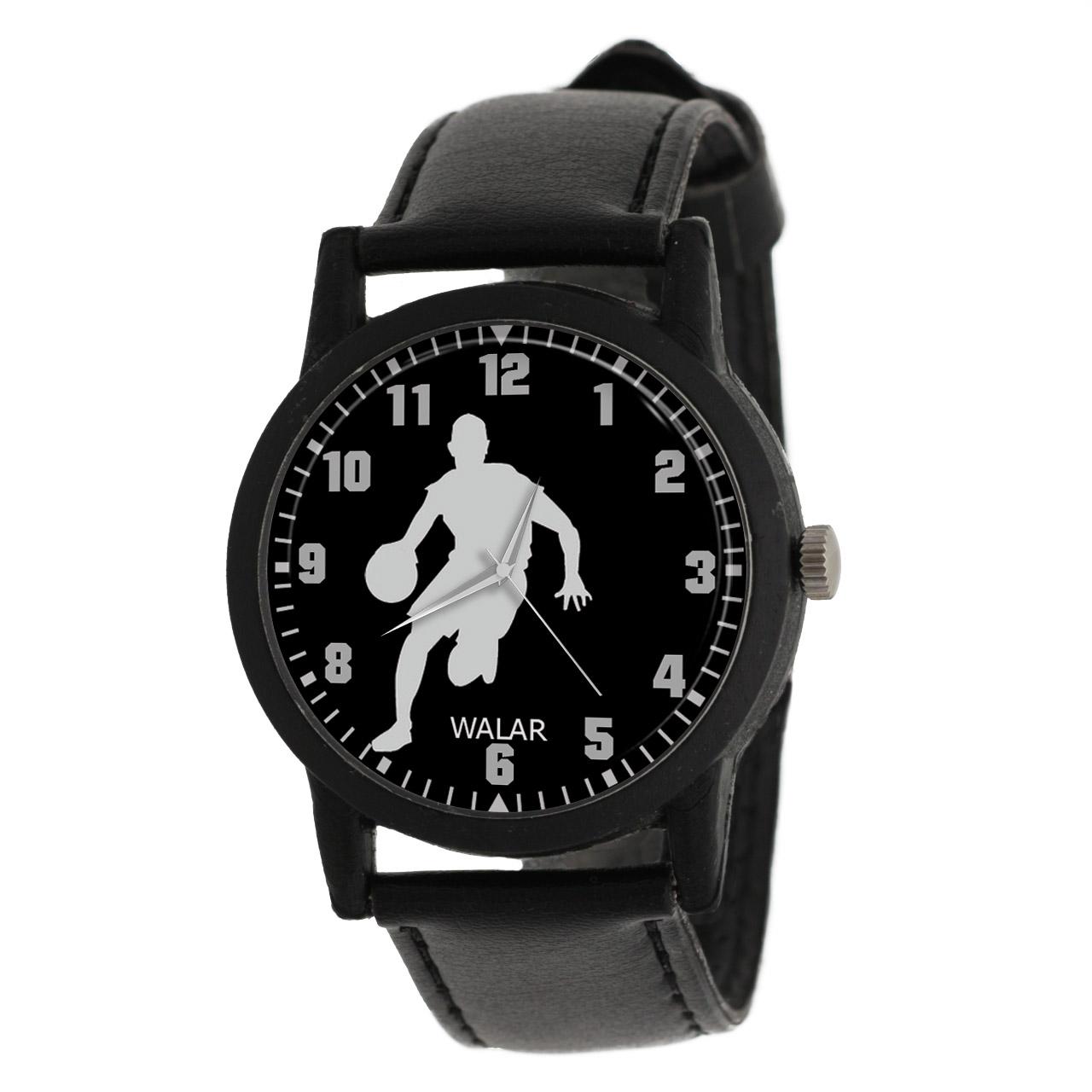 کد تخفیف                                      ساعت مچی عقربه ای مردانه والار طرح بسکتبال کد LF2693