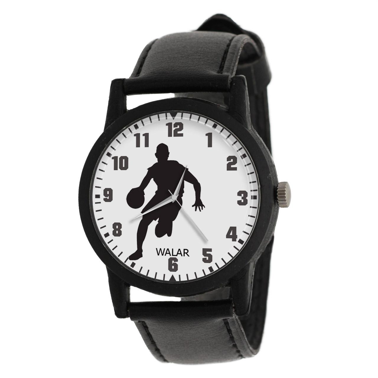 کد تخفیف                                      ساعت مچی عقربه ای مردانه والار طرح بسکتبال کد LF2694