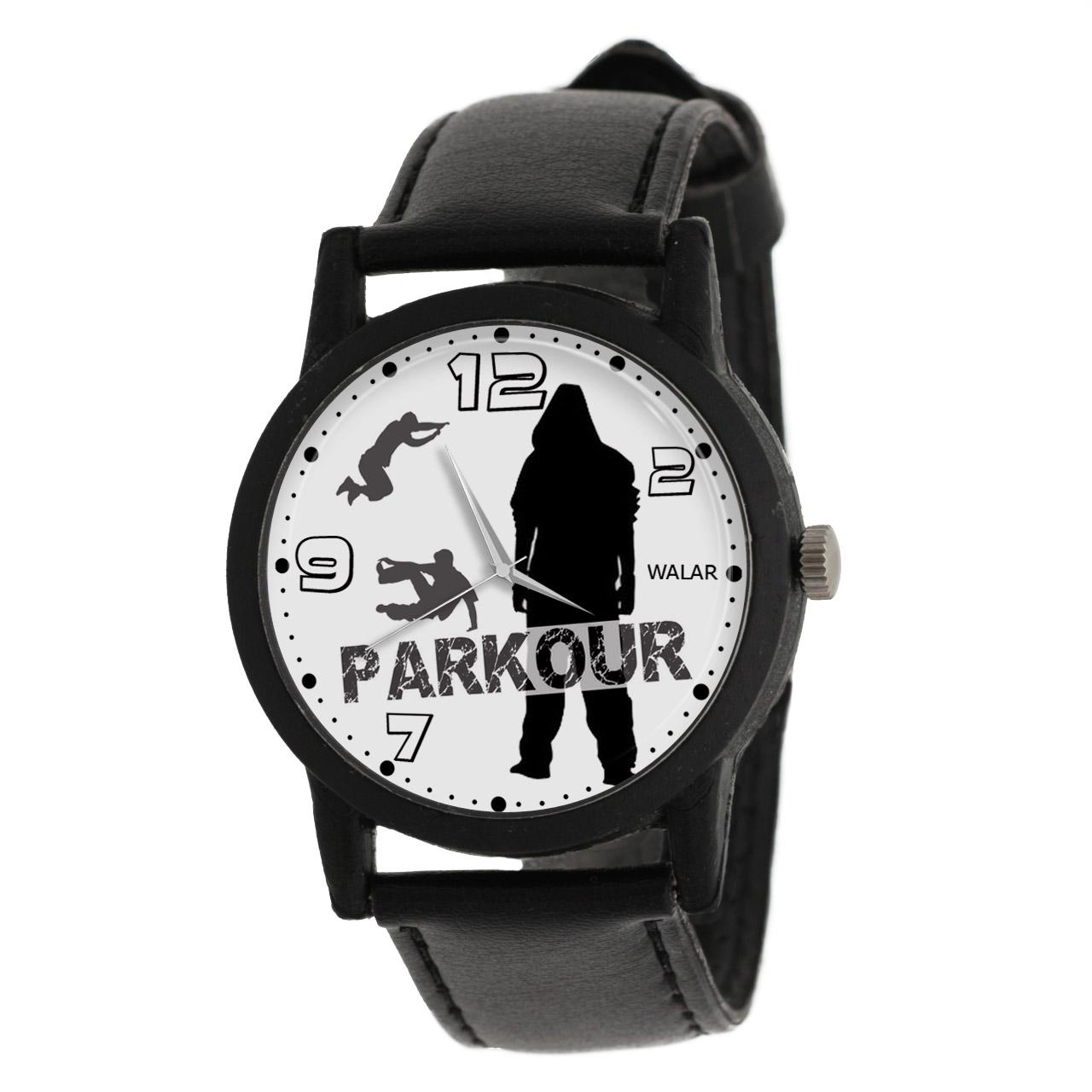کد تخفیف                                      ساعت مچی عقربه ای والار طرح پارکور کد LF2699