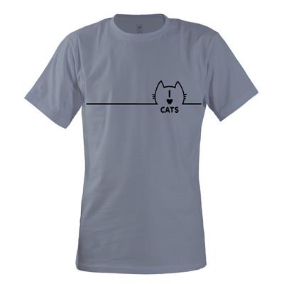 تصویر تی شرت مردانه مسترمانی طرح گربه کد 24