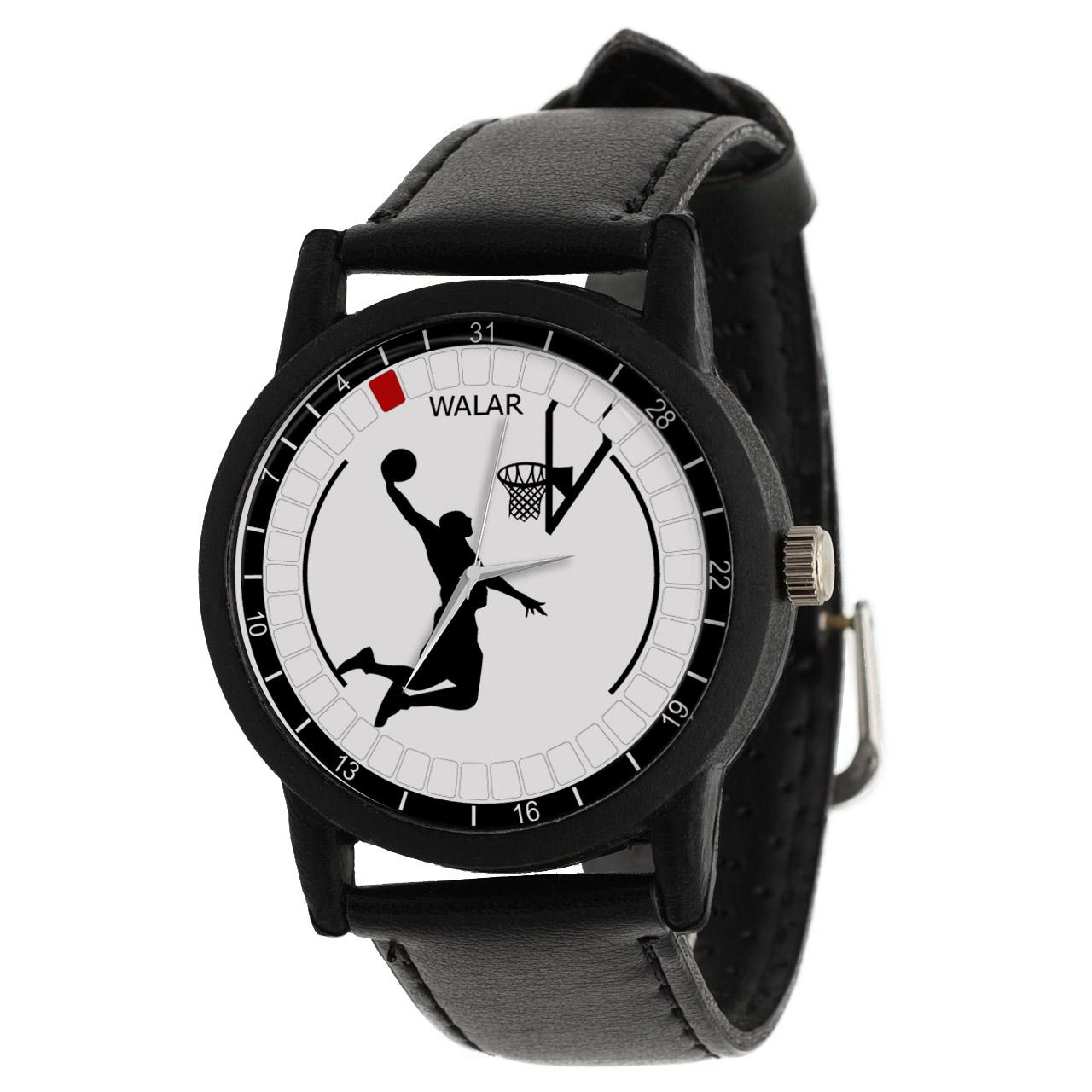 کد تخفیف                                      ساعت مچی عقربه ای والار طرح بسکتبال کد LF2711
