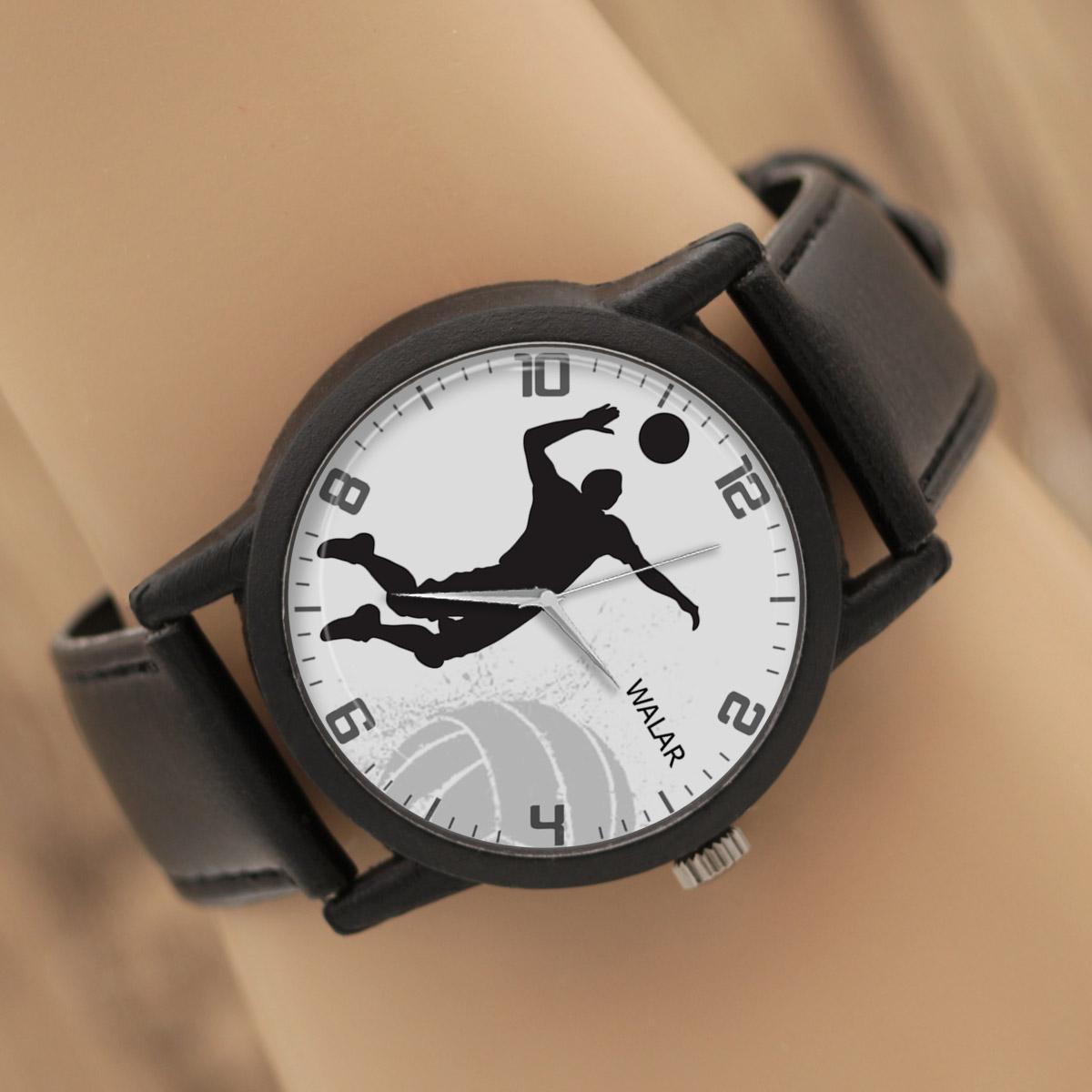 کد تخفیف                                      ساعت مچی عقربه ای والار طرح والیبال کد LF2738