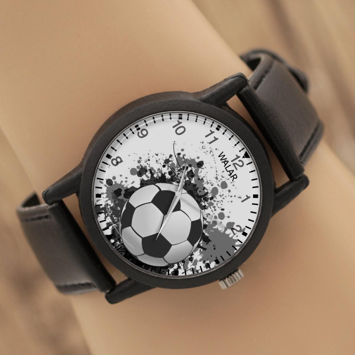 کد تخفیف                                      ساعت مچی عقربه ای والار طرح فوتبال کد LF2751