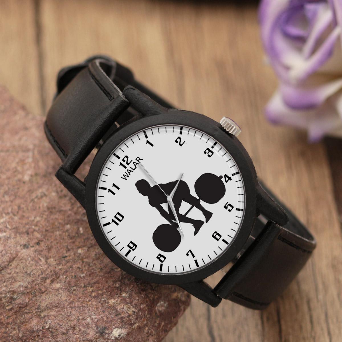 کد تخفیف                                      ساعت مچی عقربه ای مردانه والار طرح وزنه برداری کد LF2755