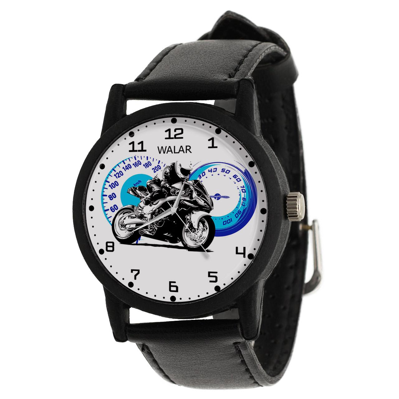 کد تخفیف                                      ساعت مچی عقربه ای والار طرح موتورسواری کد LF2758