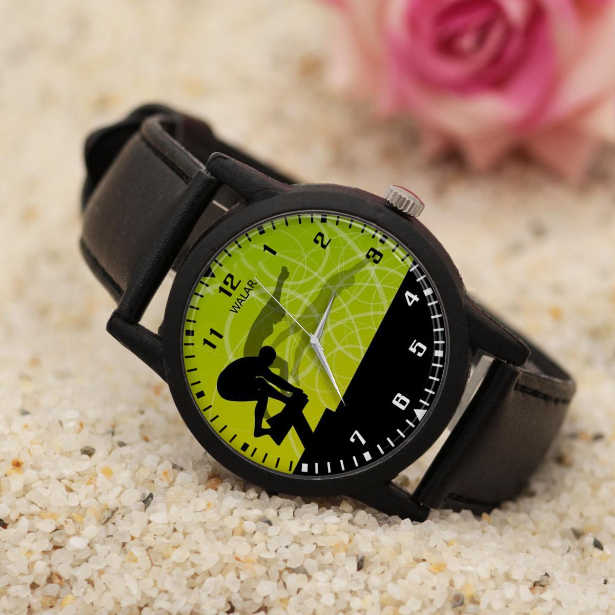کد تخفیف                                      ساعت مچی عقربه ای مردانه والار طرح شنا کد LF2760