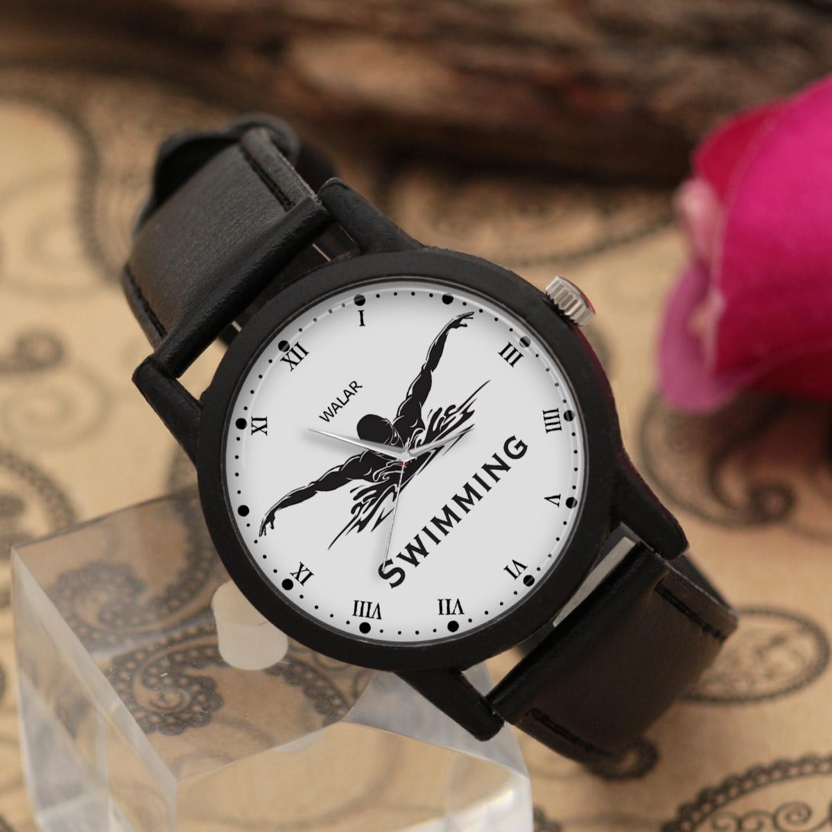 کد تخفیف                                      ساعت مچی عقربه ای مردانه والار طرح شنا کد LF2762