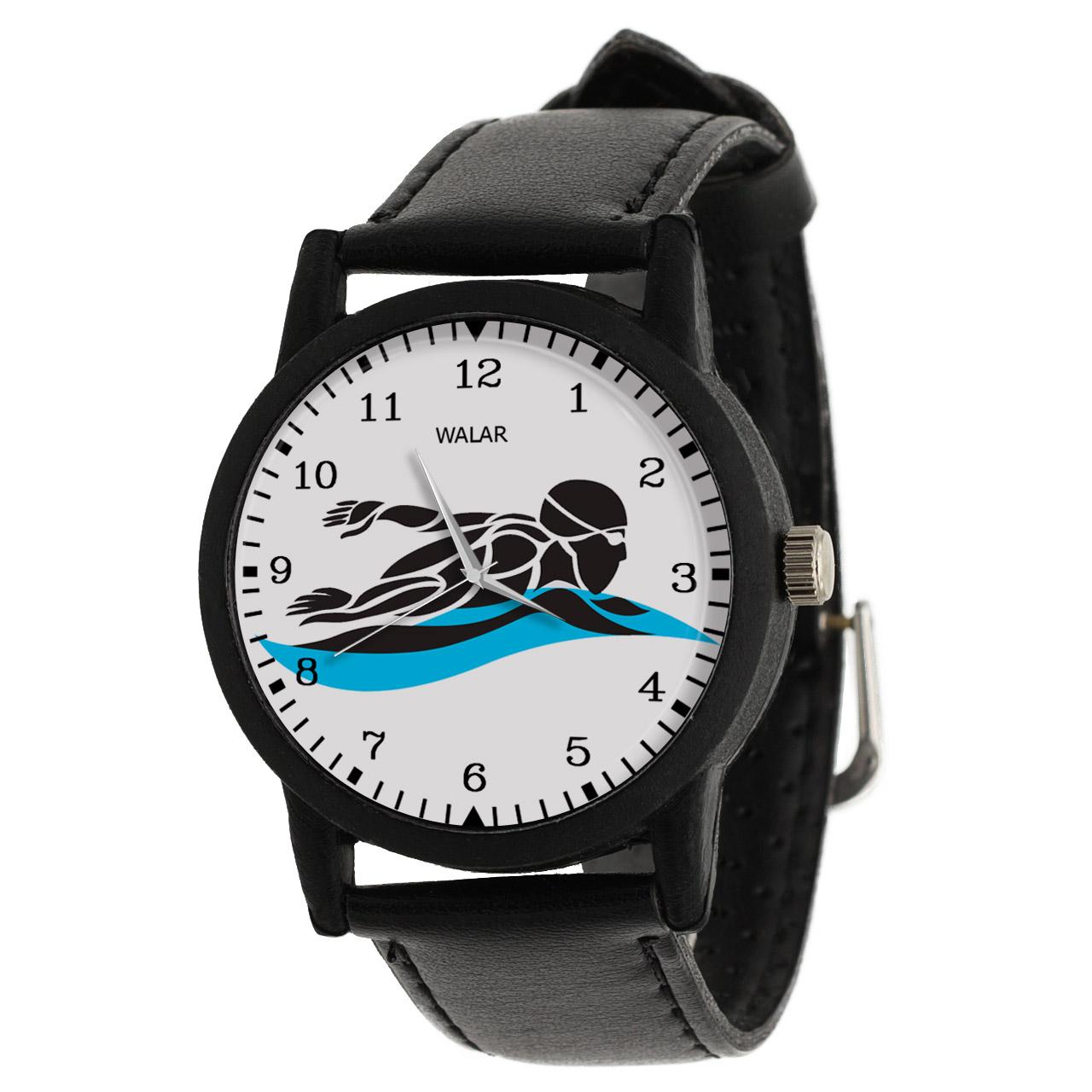 کد تخفیف                                      ساعت مچی عقربه ای مردانه والار طرح شنا کد LF2763