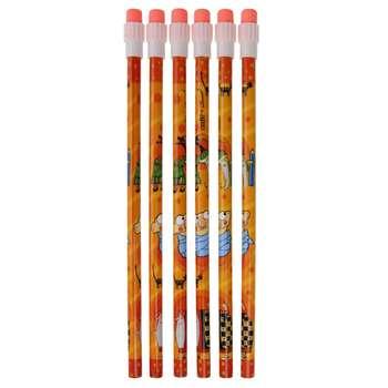مداد مشکی آزاده مدل شکرستان کد N6 بسته 6 عددی