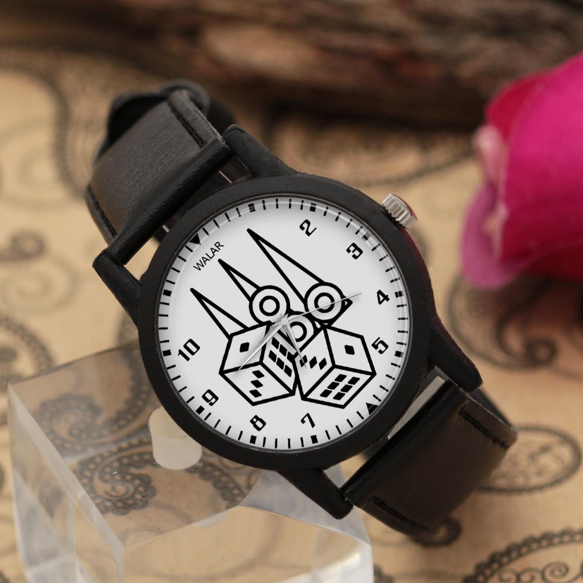 ساعت مچی عقربه ای والار طرح تخته نرد کد LF2764              خرید (⭐️⭐️⭐️)