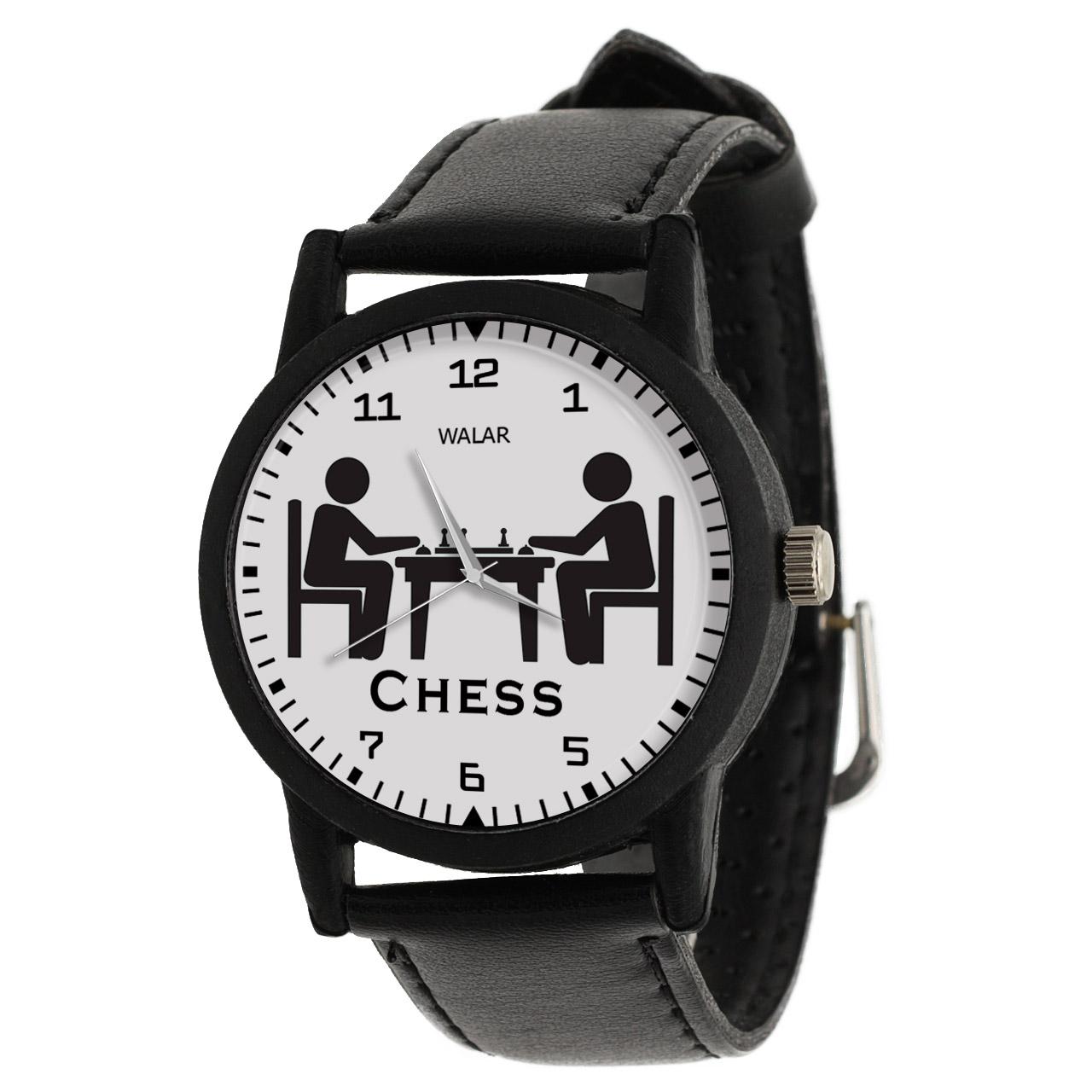 کد تخفیف                                      ساعت مچی عقربه ای والار طرح شطرنج کد LF2766