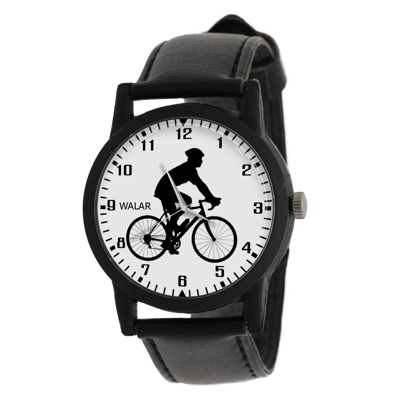 کد تخفیف                                      ساعت مچی عقربه ای والار طرح دوچرخه سواری کد LF2770