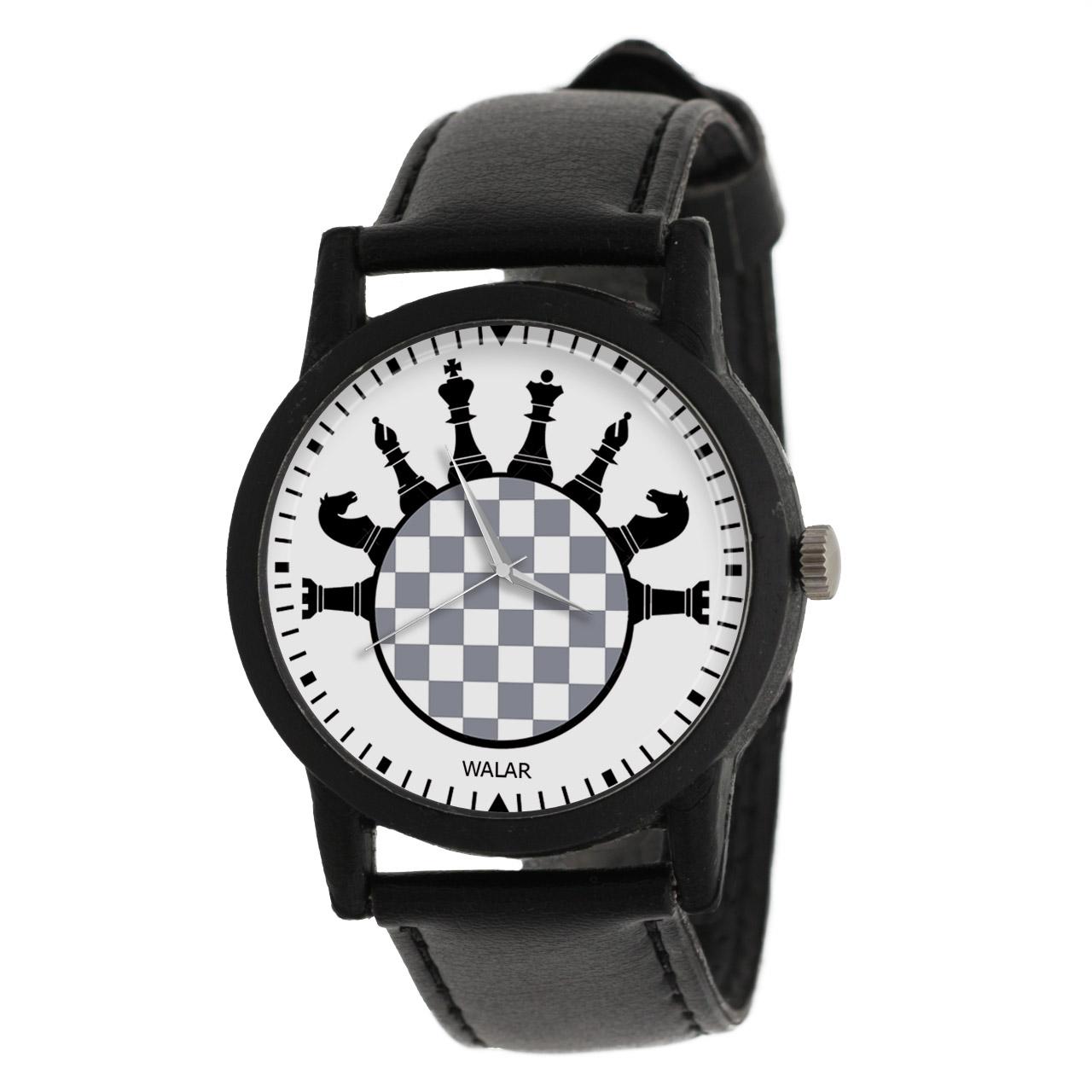کد تخفیف                                      ساعت مچی عقربه ای والار طرح شطرنج کد LF2771