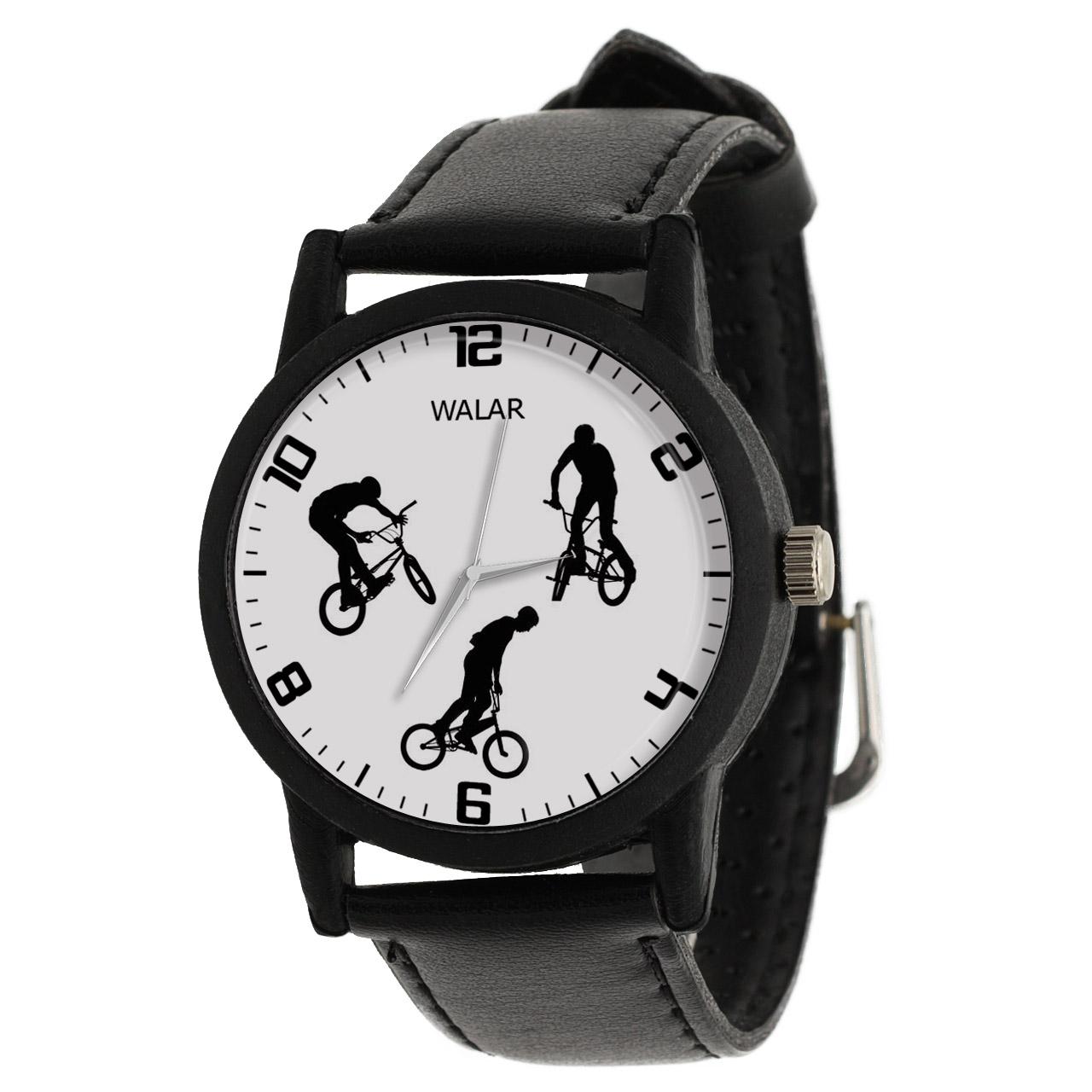 کد تخفیف                                      ساعت مچی عقربه ای مردانه والار طرح دوچرخه سواری کد LF2781