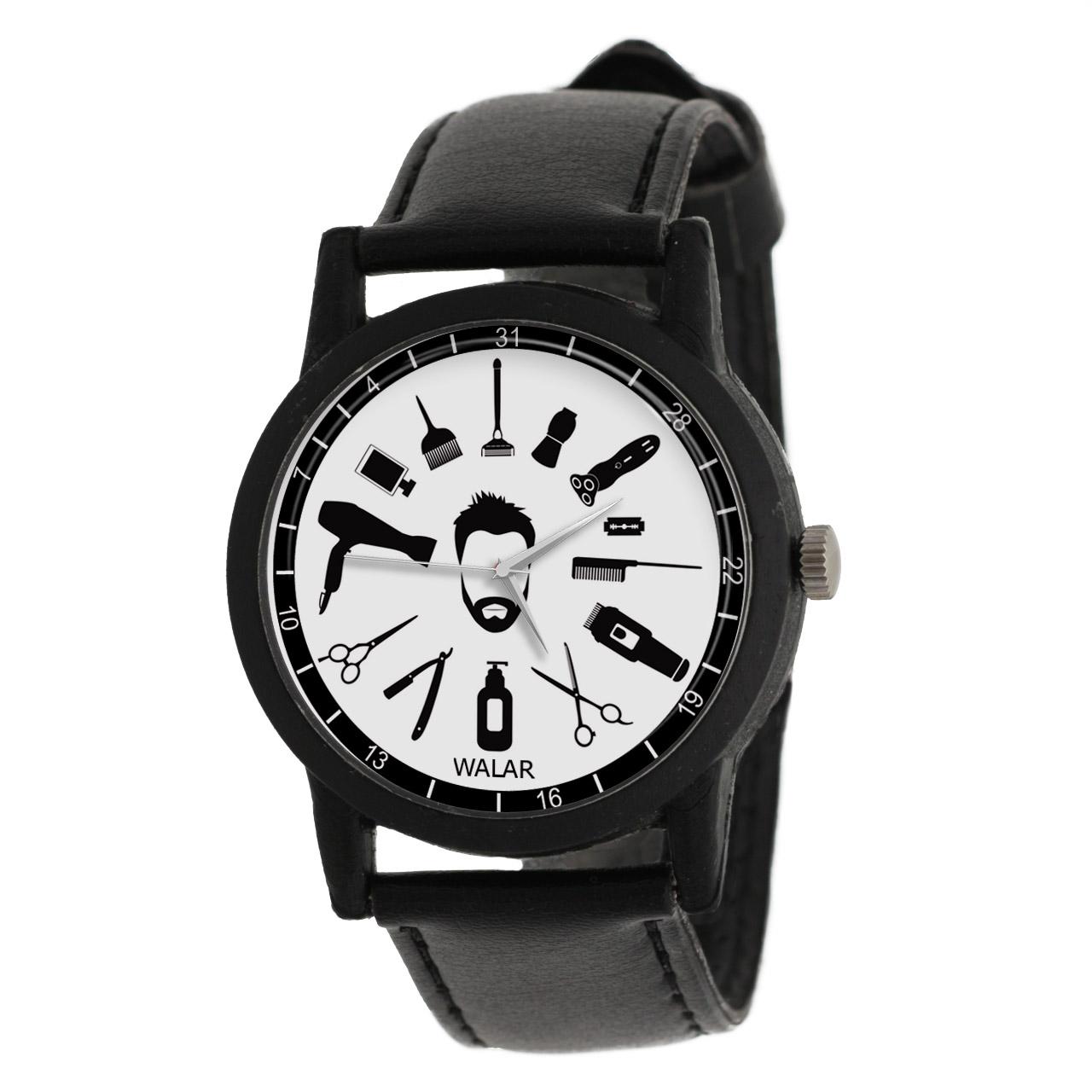 کد تخفیف                                      ساعت مچی عقربه ای مردانه والار طرح آرایشگر کد LF2804