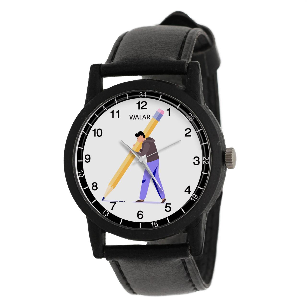 کد تخفیف                                      ساعت مچی عقربه ای مردانه والار طرح نویسنده کد LF2810