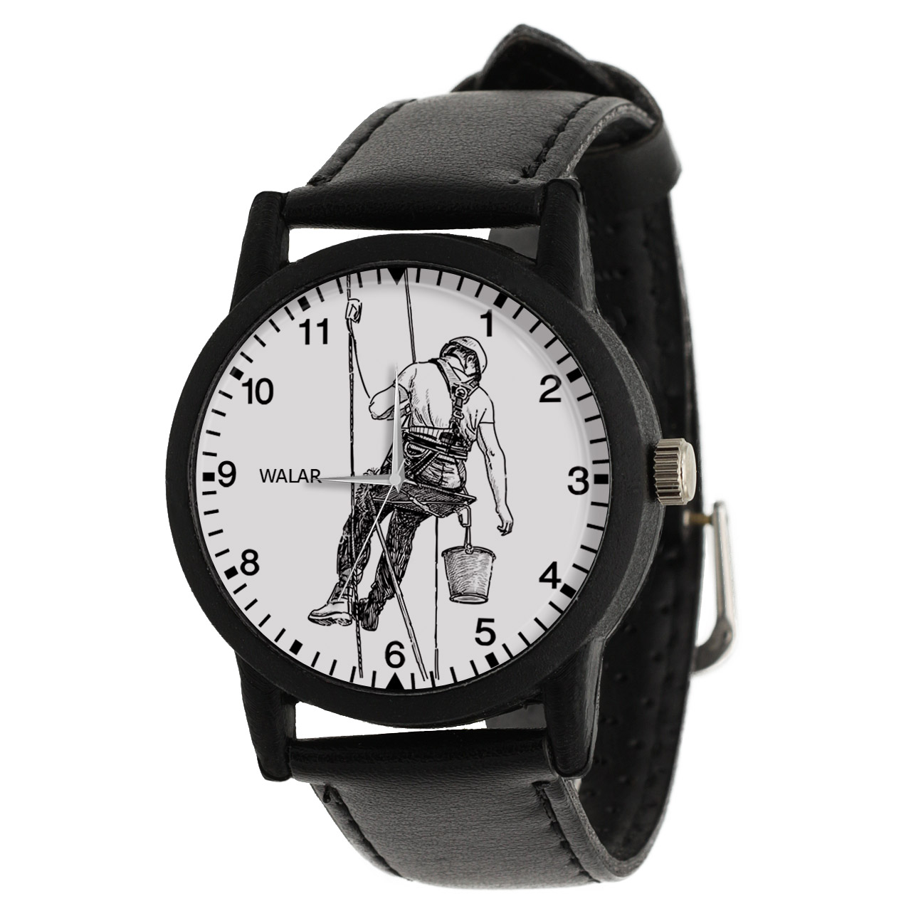 کد تخفیف                                      ساعت مچی عقربه ای مردانه والار طرح نقاش کد LF2811