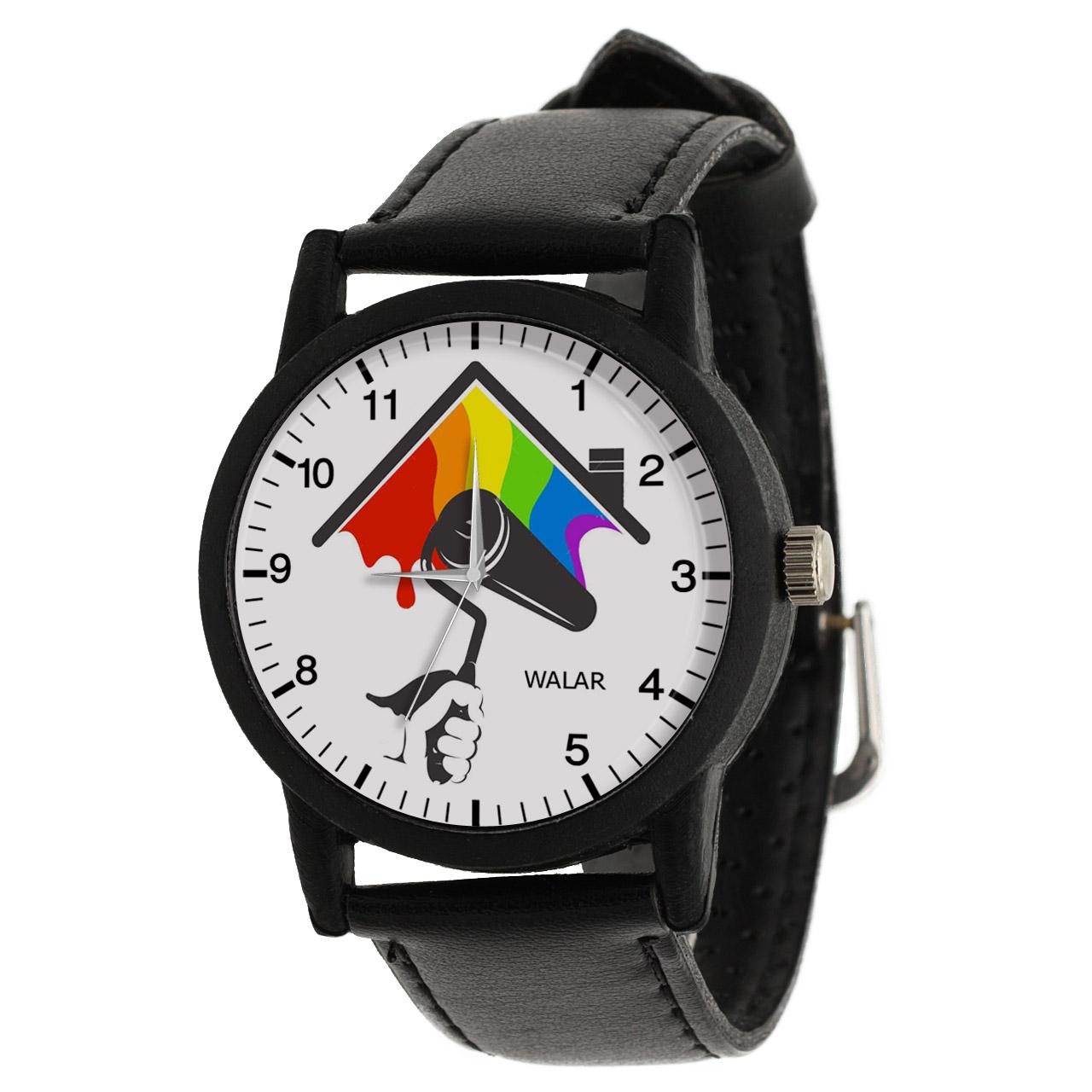 کد تخفیف                                      ساعت مچی عقربه ای والار طرح نقاش ساختمان کد LF2813