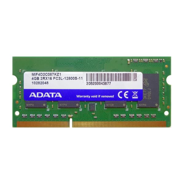 رم لپ تاپ DDR3 تک کاناله 1600 مگاهرتز CL11 ای دیتا مدل PC3L ظرفیت 4 گیگابایت