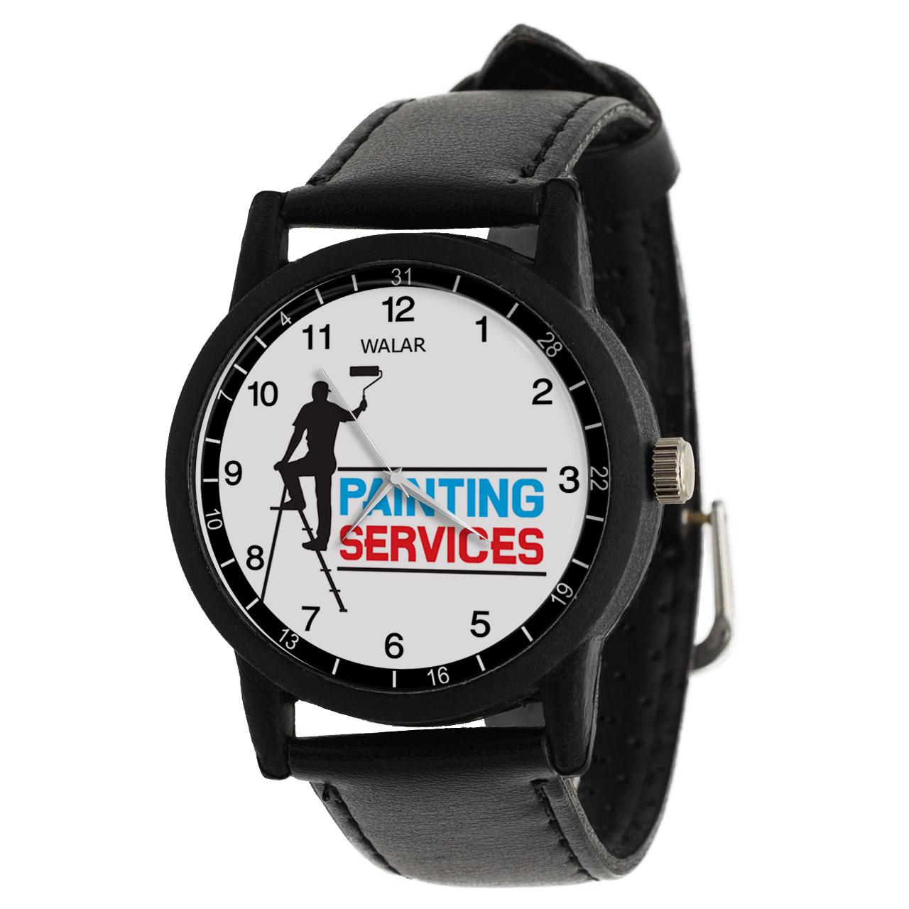 کد تخفیف                                      ساعت مچی عقربه ای مردانه والار طرح نقاش ساختمان کد LF2814