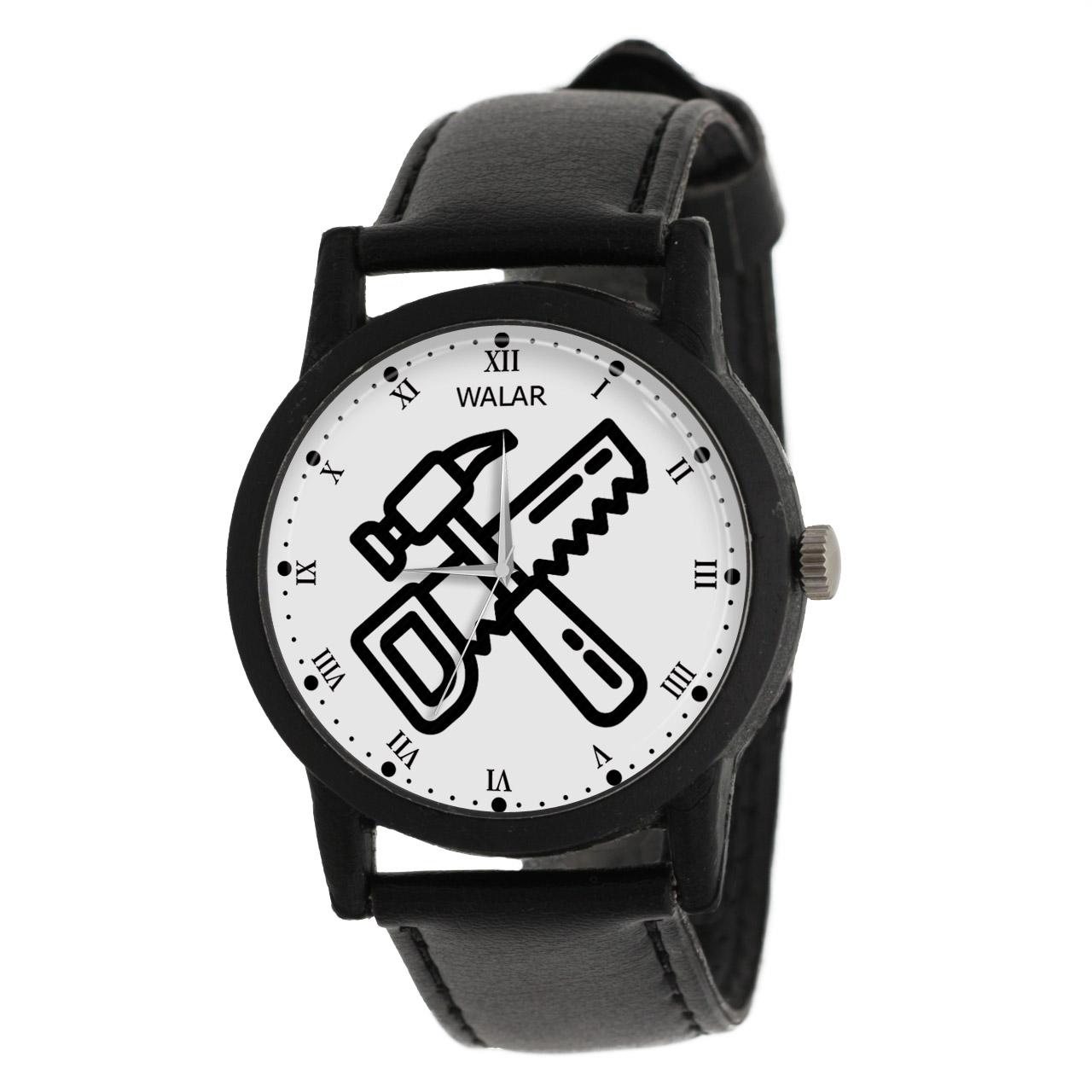 کد تخفیف                                      ساعت مچی عقربه ای والار طرح نجار کد LF2816