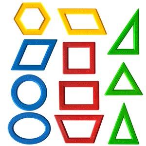شابلون دانشمند مدل اشکال هندسی کد GS4 مجموعه 11 عددی