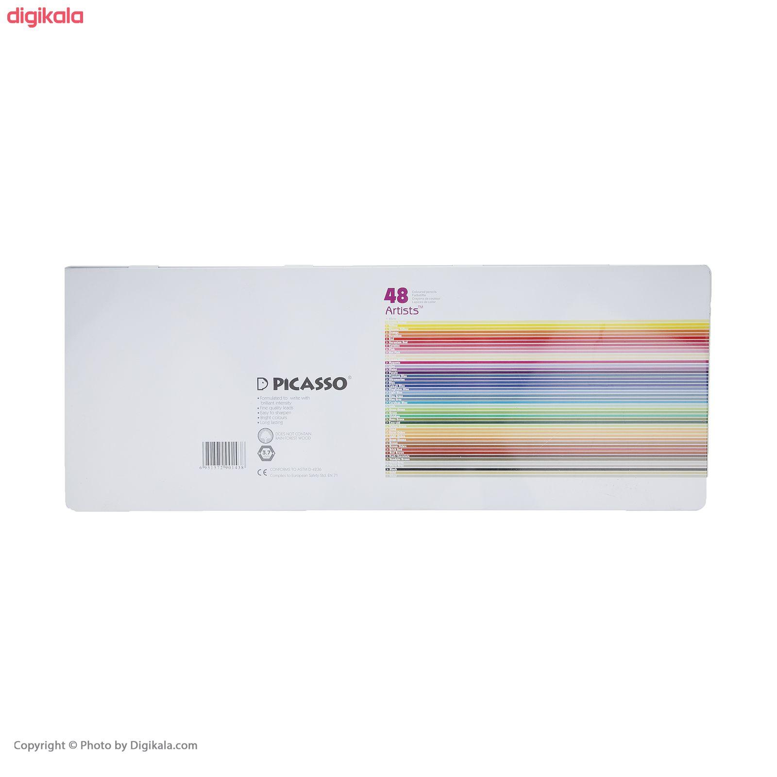مداد رنگی 48 رنگ پیکاسو مدل Artists  main 1 2
