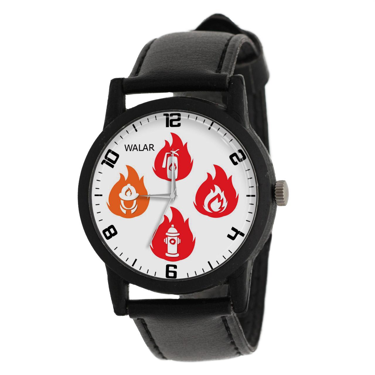 کد تخفیف                                      ساعت مچی عقربه ای والار طرح آتش نشان کد LF2820