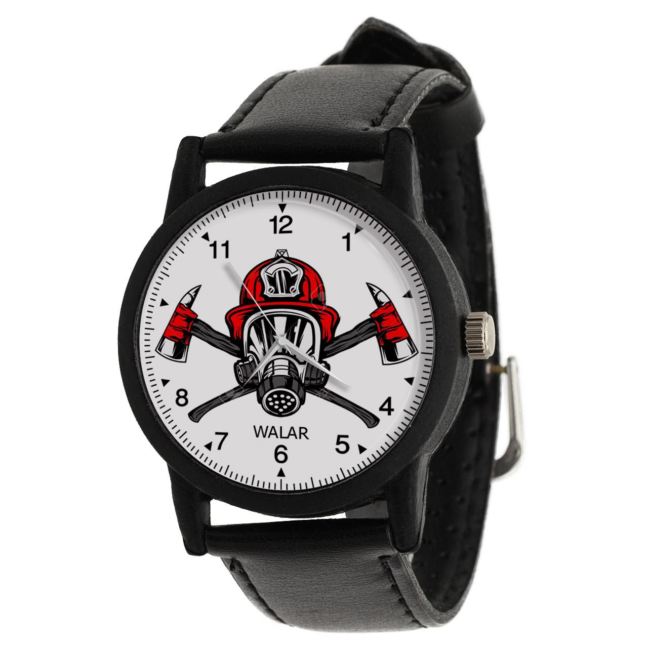 کد تخفیف                                      ساعت مچی عقربه ای مردانه والار طرح ماسک آتش نشانی کد LF2822