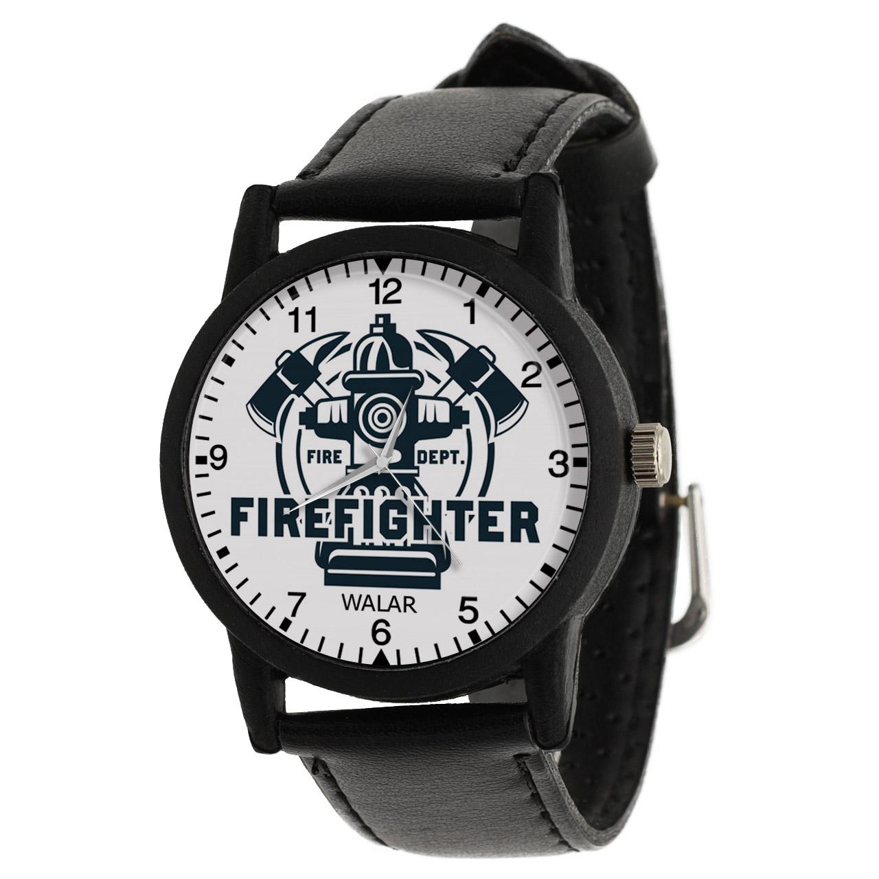 کد تخفیف                                      ساعت مچی عقربه ای مردانه والار طرح آتش نشان کد LF2824