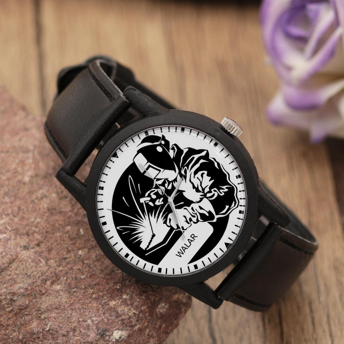 کد تخفیف                                      ساعت مچی عقربه ای مردانه والار طرح جوشکاری کد LF2828