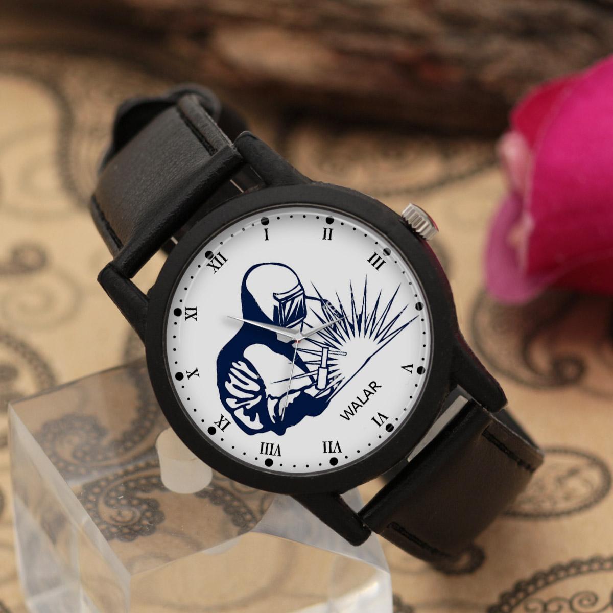 کد تخفیف                                      ساعت مچی عقربه ای مردانه والار طرح جوشکاری کد LF2829