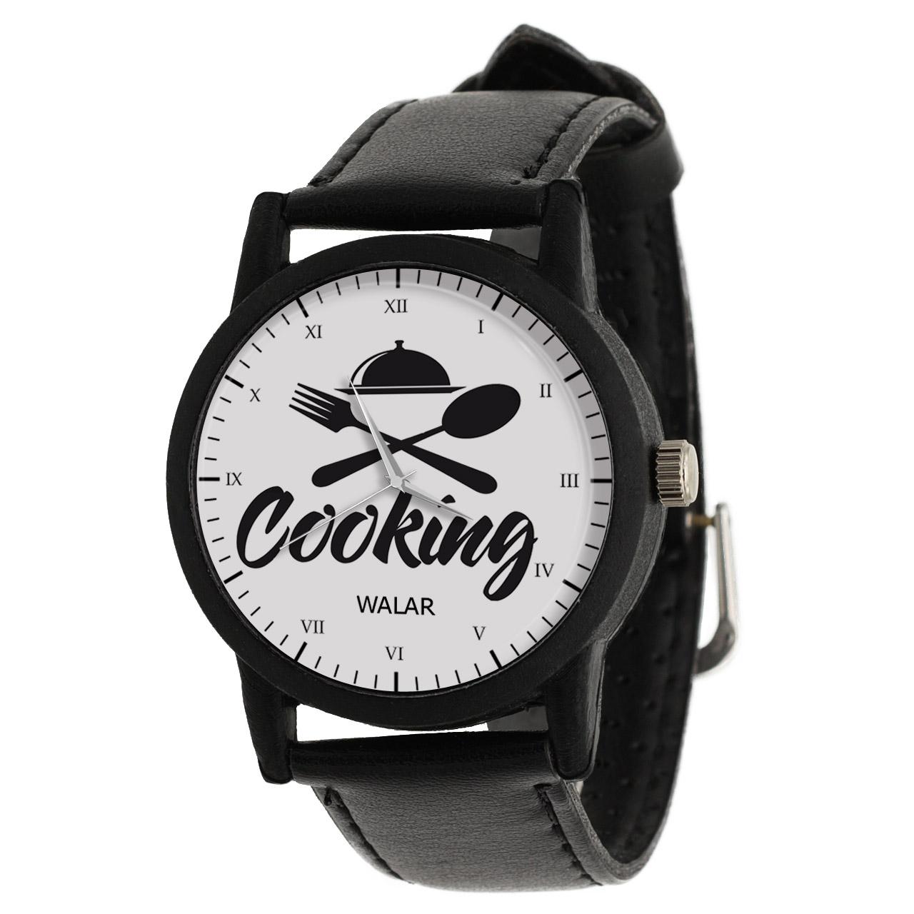 کد تخفیف                                      ساعت مچی عقربه ای والار طرح آشپزی کد LF2838