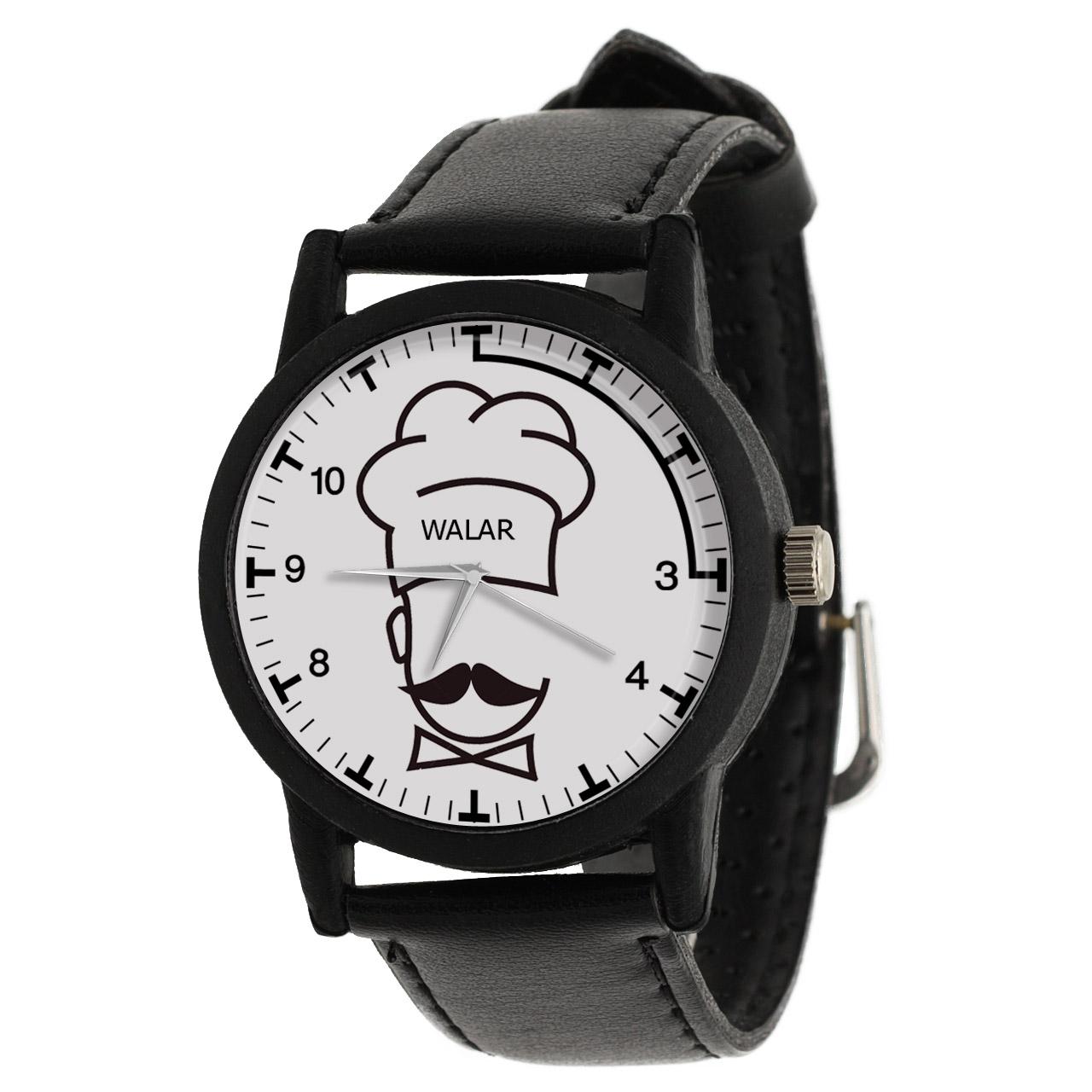 کد تخفیف                                      ساعت مچی عقربه ای مردانه والار طرح آشپز کد LF2844