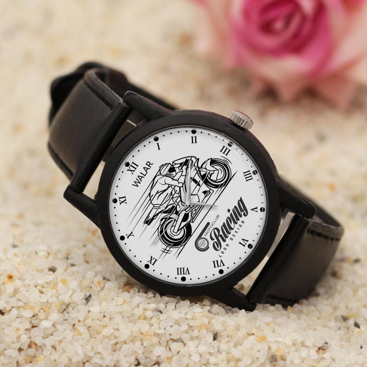 کد تخفیف                                      ساعت مچی عقربه ای مردانه والار طرح موتورسواری کد LF2845