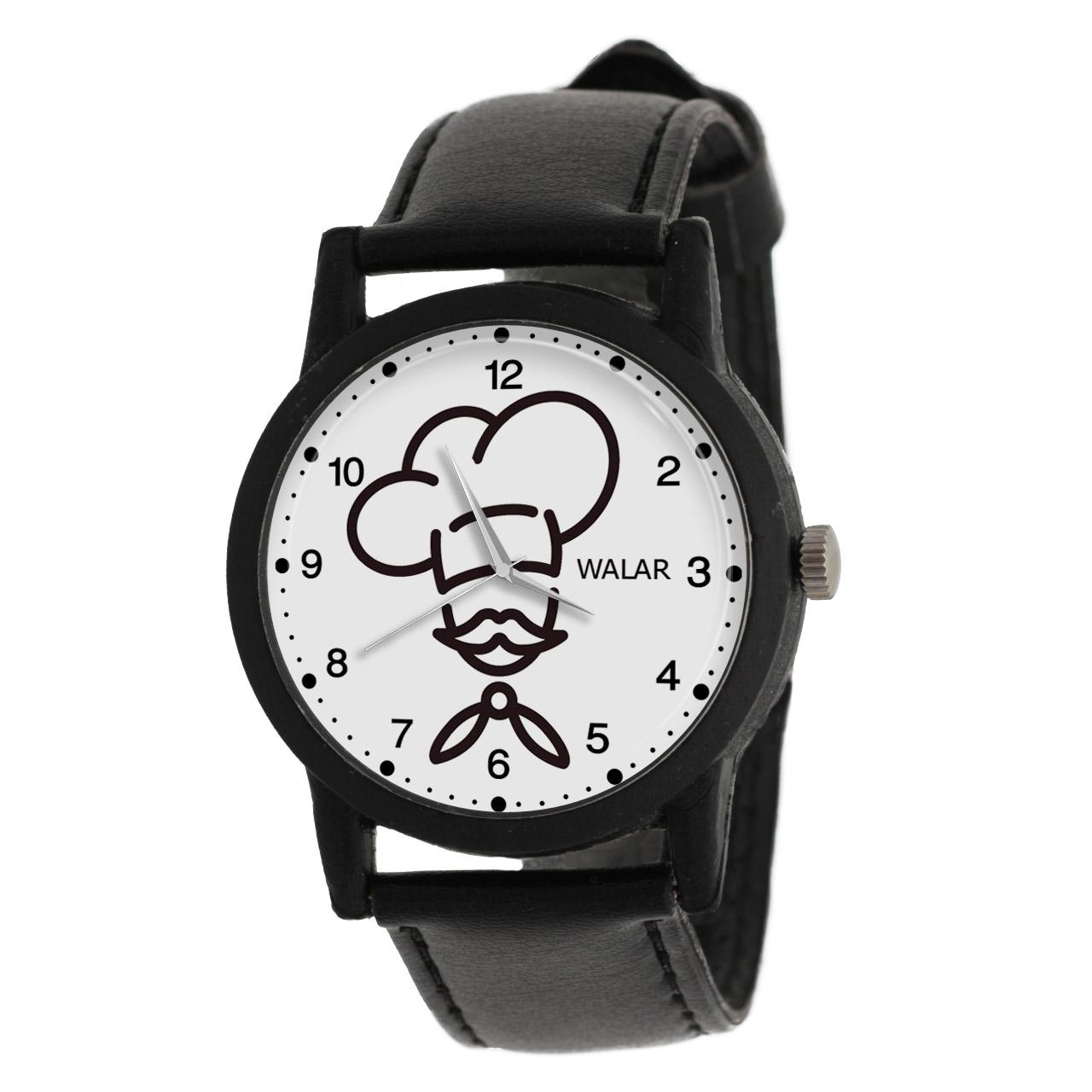 کد تخفیف                                      ساعت مچی عقربه ای مردانه والار طرح آشپز کد LF2847