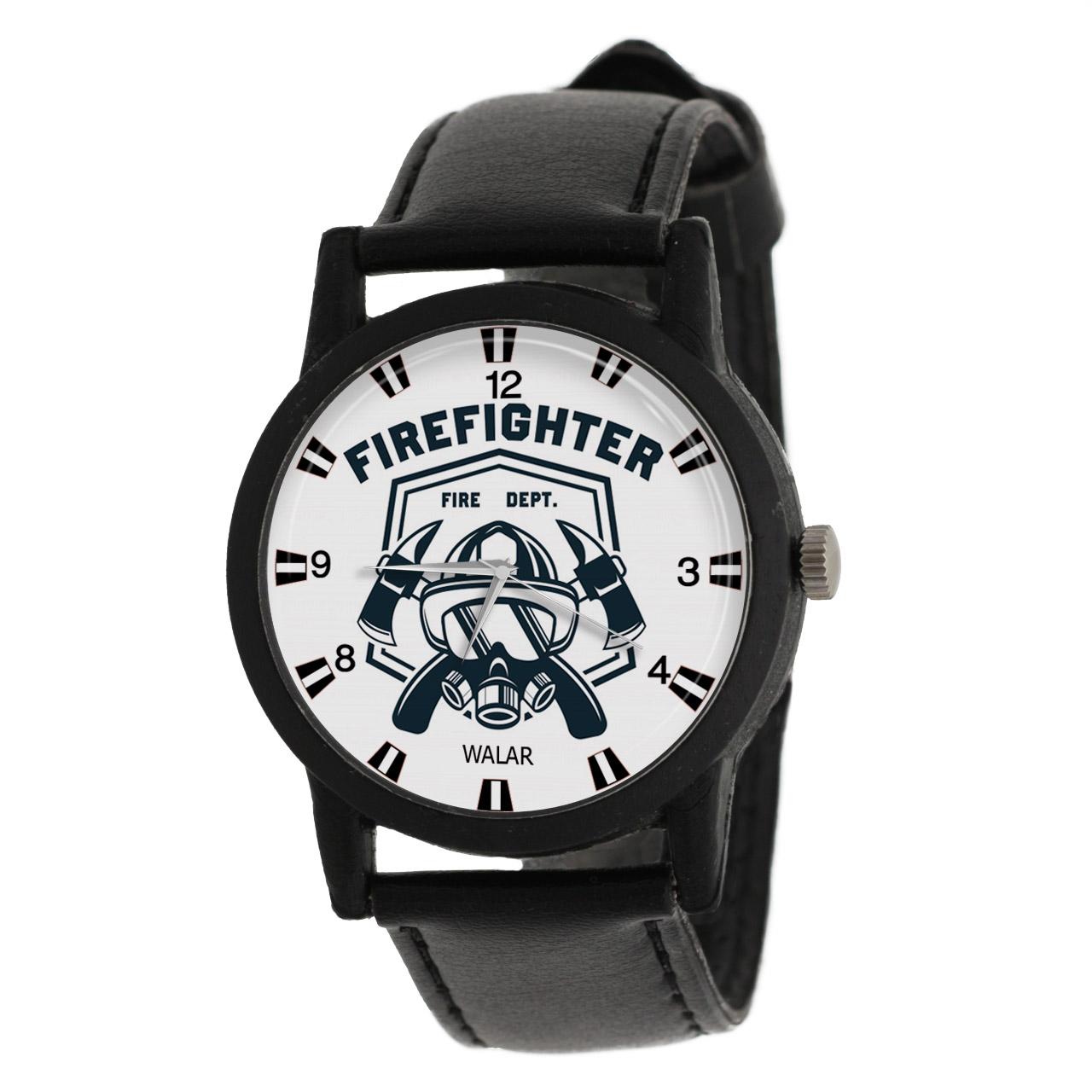 کد تخفیف                                      ساعت مچی عقربه ای مردانه والار طرح آتش نشانی کد LF2855