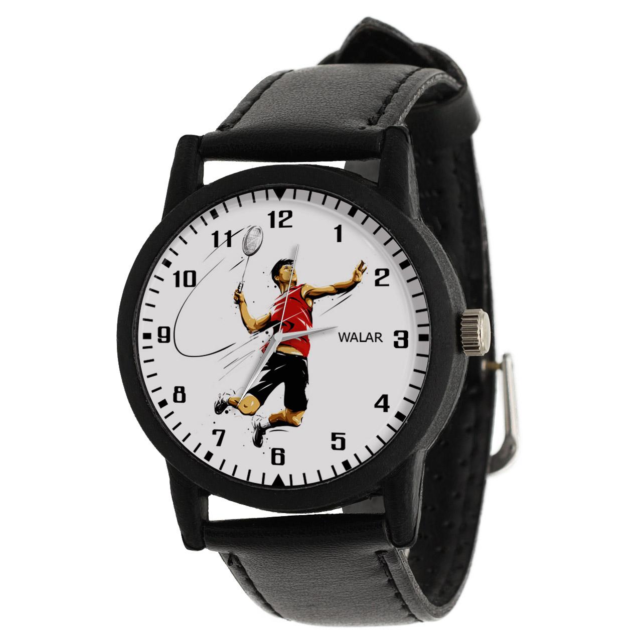 کد تخفیف                                      ساعت مچی عقربه ای مردانه والار طرح بدمینتون کد LF2856