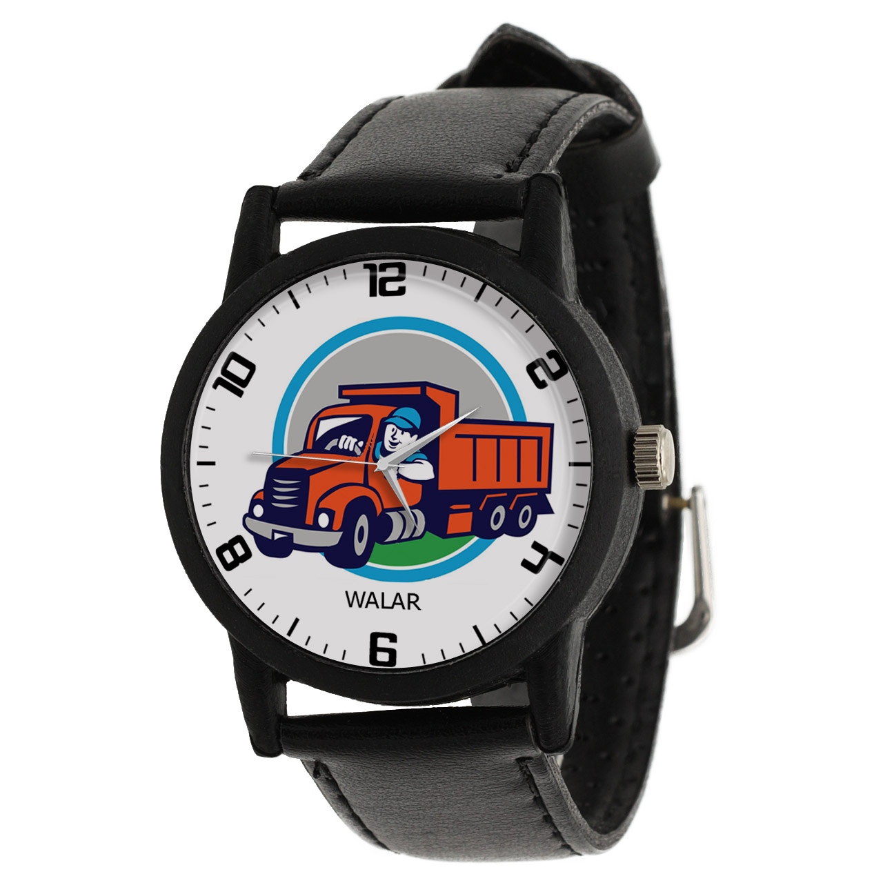 کد تخفیف                                      ساعت مچی عقربه ای مردانه والار طرح کامیون کد LF2859